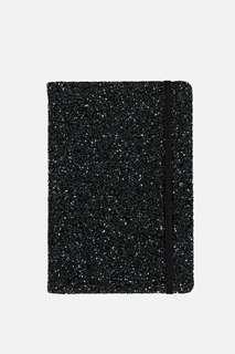 Typo A5 Glitter Buffalo Journal Notebook (Black)