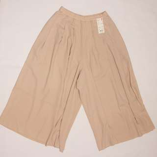 "UNIQLO Light Pink ""Women Drape Wide Leg Flare Pants"""