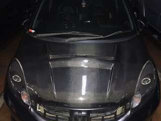 Kap Mesin Carbon Kevlar Karbon Honda Brio