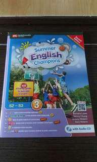 英文假期作業 (中2升中3)Summer English Champions( 各大書局暫時冇貨)