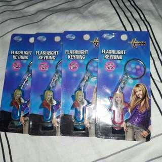 Hannah montana flashlight keyring