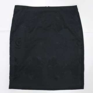 Nordstrom Halogen Black Lace Pencil Skirt