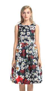 BN Floral Knee Length Dress