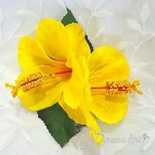 🏵Serenadipity Flowers🏵 Handmade Double Hibiscus for Hawaiian Hula & Tahitian Dance