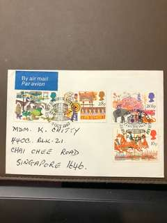 Clearing Stocks: England 1983 Nottingham Set of 4 First Day Cover Sent to Singapore