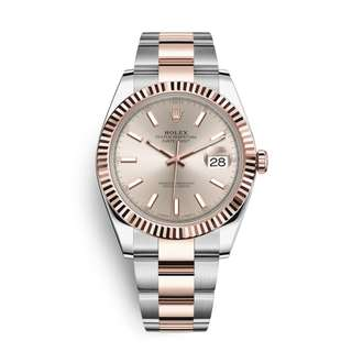 Rolex Datejust 41 Watch: Everose Rolesor (126331) Oyster