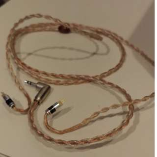 Noctunal 8 core hybrid iem cable 2pins to 3.5mm unbalanced plug version 1