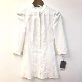 New Alexander Mcqueen white dress size 38