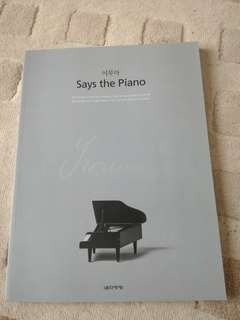 Yiruma - Says the Piano (PUR) Piano score