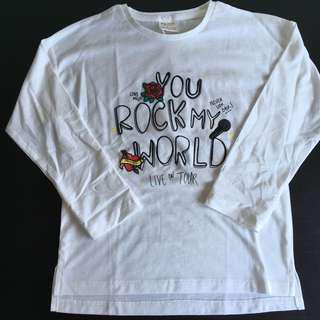 [readystock] ZARA girls long sleeves tshirt