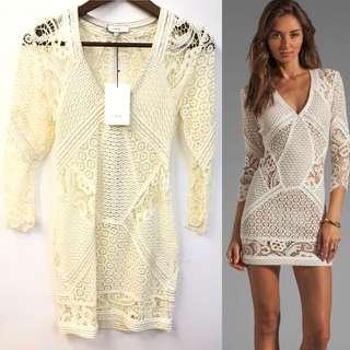New IRO white see through dress size 0