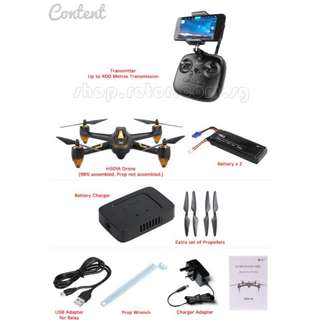 [NETT PRICE] [Up to 400 metres] [With 2 Batteries] Hubsan H501A X4 Air Pro with HT011A Transmitter, 1920x1080p, 2MP camera, 20mins flight time, Ready-to-Fly Aerial Photography Drone. Android or Apple App. Code: H501A+HT011A
