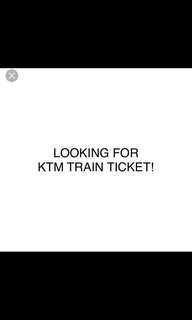 Looking to buy 2 18th Aug KTM train tix