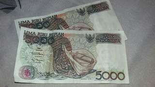 Uang Rp. 5.000,00 tahun 1992