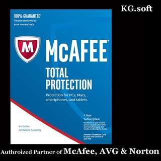 🔥McAfee Total Protection 2018 for 1 / 3 / 5 / 10 or unlimited devices 1-year🔥