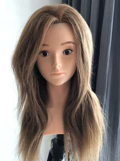 """Mannequin head with """"real""""Hair with stand"""