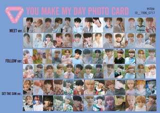 [go] seventeen you make my day ymmd photocards