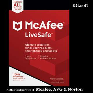 🔥McAfee LiveSafe 2018 for 5 / 10 or unlimited devices 1-year🔥