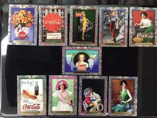 Coca Cola Heritage collectable cards 10pcs. Lot 3