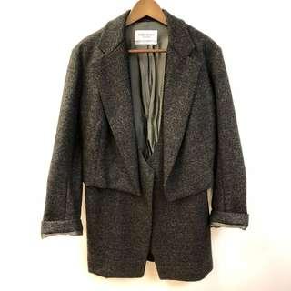YSL gray jacket overcoat size 40