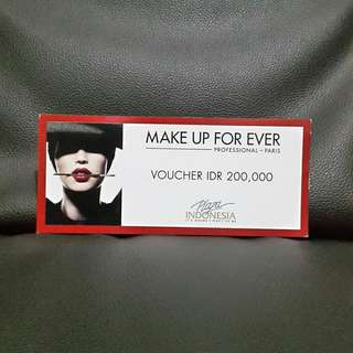 Make Up For Ever Cash Voucher