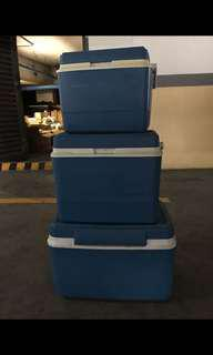 Rubbermaid Insulated Cooler Box Set of 3