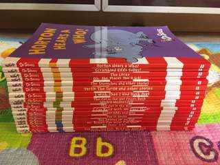Dr Seuss 18本,九成新,適合小一至小四,內容押韻有助孩子記憶新詞,故事幽默