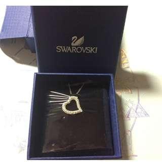 Swarovski Mozart 心形吊墜頸鏈 (有盒, 無拆過,禮物)