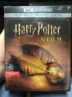 Harry Potter 4k + blu ray + digital copy