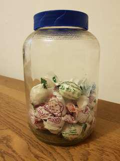 Vintage horlicks glass jar