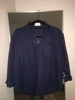 Blue pinstripe top/blouse