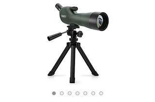 557• Emarth 20-60x60AE Waterproof Angled Spotting Scope with Tripod, 45-Degree Angled Eyepiece, Optics Zoom 39-19m/1000m for Target Shooting Bird Watching Hunting Wildlife Scenery