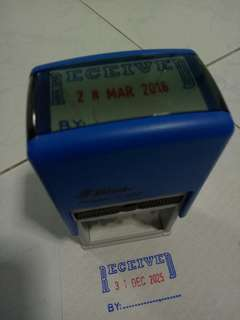 Self-inking Received Date Stamp