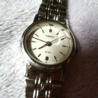 Authentic Timex silver watch