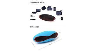 558•Potable X6U Mini Rugby / Football Stylish Wireless Stereo Bluetooth Speaker Hands-free with TF Card Slot USB Port for iPhone6 Plus 6 Samsung Galaxy S6 S5 / Note 4 Notebook Tablet Blue