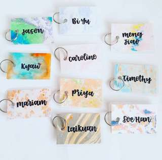 Customisable keychain keychains Gifts Door Gift Personalised Customised Chain chains Cca graduation Birthday Goodie Colleague Colleagues Farewell Calligraphy Classmates Party Friend Students present presents teachers' children's children teacher Teacher's