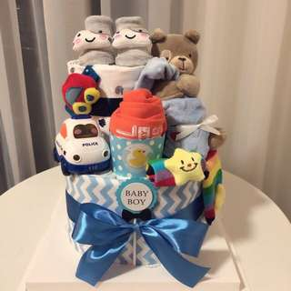 🚚 Baby Diaper Cake 2-Tier for New Born / Baby Shower / Birthday Present