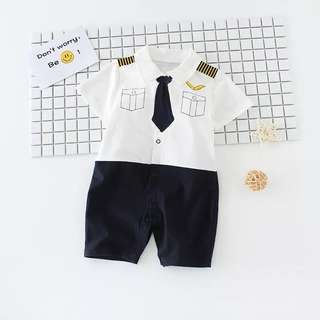 🚚 🌟INSTOCK🌟 Pilot Theme Baby Romper Kids Newborn Baby Onesie Clothing for boys