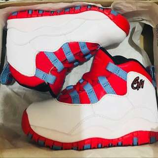 ,Jordan 10 chicago Flag snickers ,authentic items 100%