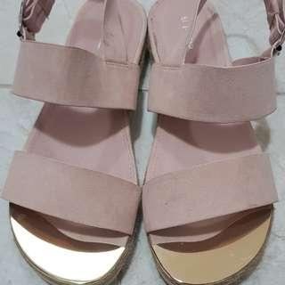 Strappy slip on sandals