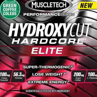 【SAVE 45%】Hydroxycut Hardcore, Elite, 100 Rapid-Release Thermo Caps  (GNC Price $89.95) Free Delivery with Park & Parcel. Order by Sunday to Enjoy Offer!