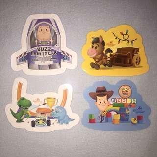 上海迪士尼貼紙(一套4張)