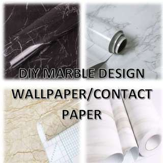 🚚 DIY Marble Self Adhesive Contact Paper Wallpaper Wall Home Decor Decorations for Cabinet Table top Counter top Furniture