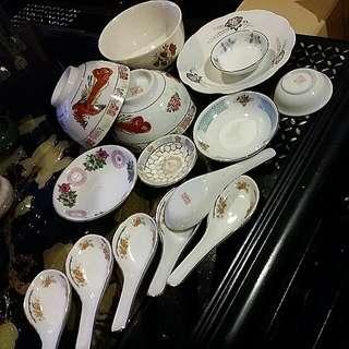 Misc Chinese Vintage Porcelain Pieces Total 15 Pcs