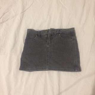 Huffer Black Denim Mini Skirt