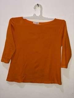Zara top orange