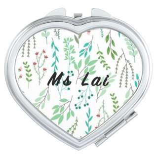 Teacher's Day Customised Compact Mirror Personalised Name