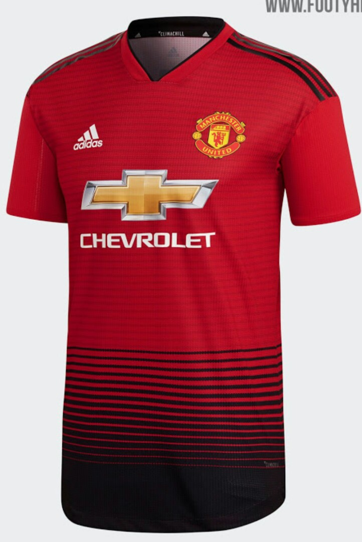 f13f94806e2 2018 19 Manchester United Home Away 3rd kit jersey