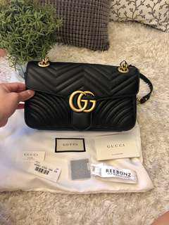 100% Authentic Gucci Marmont Small Matelasse Black