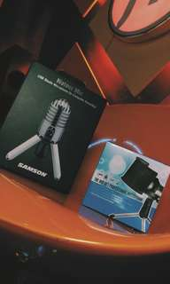 Samson Condenser USB mic With Free Pop Filter/Paid Software